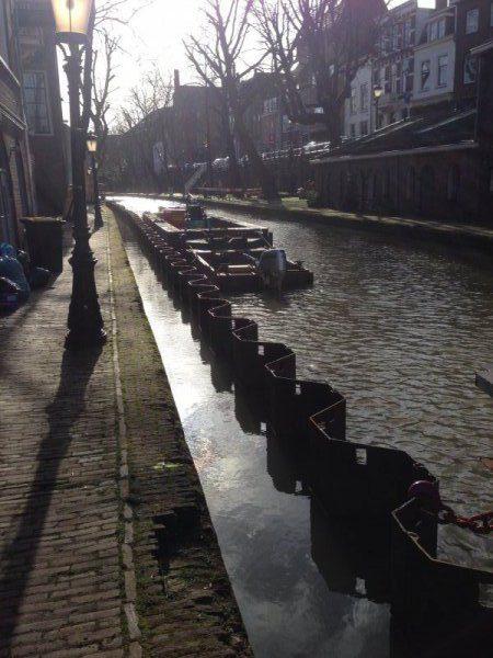 Damwand Oude Gracht Utrecht