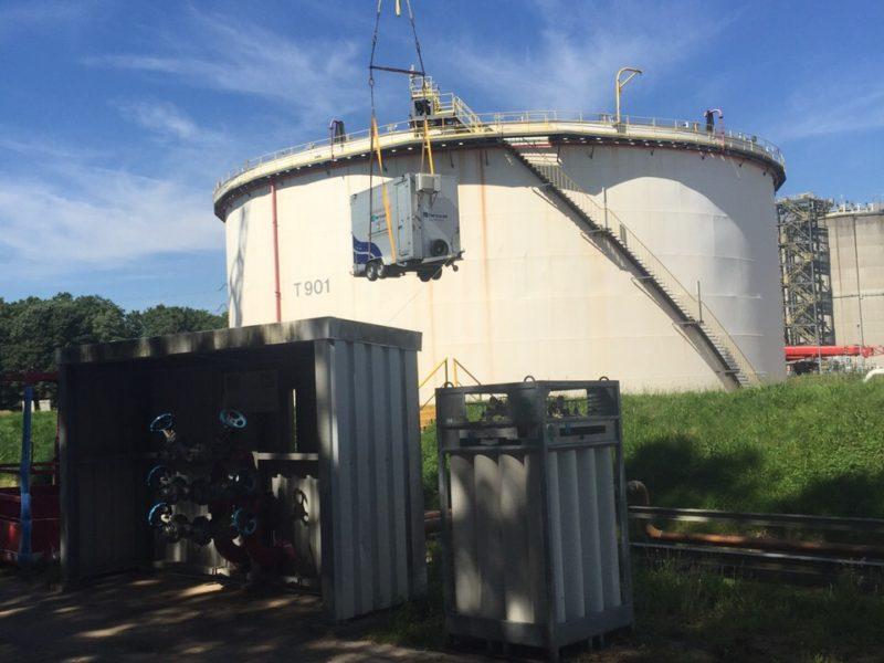 Calamiteit Nafta opslagtank T901